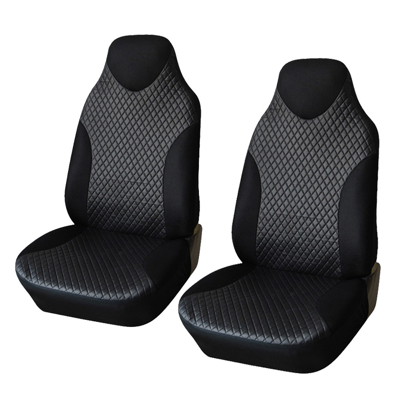 Black Sports Seat Covers PVC Fabric Car Seat Cover