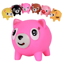 Random Color Funny sounds audible tongue Pink Pig Doll decompression toys vent Toys for Baby Office worker pressure reduced(China (Mainland))