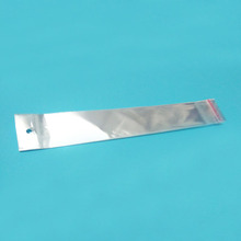 4x26.5cm Transparent hang hole OPP self-adhesive bag,hair extension packaging plastic bag,Jewelry bags 100pcs/lot(China (Mainland))