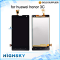 Black 1 Piece Free Shipping 5 inch Display For Huawei Honor 3C LCD G740 H30 U10