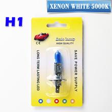 Buy Blister Card Package H1 12V 55W / 100W Xenon Dark Blue 1700Lm / 2200Lm 5000K Quartz Glass Super White Car Fog Light Halogen Bulb for $3.50 in AliExpress store