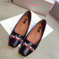 2016 Woman Plaid Bowties Square Head Flat Shoes Ballerinas Chaussures Ballerine Femme Big Size 41