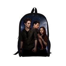 2014 New Design Twilight Children School Backpack Men Travel Bags Edward Character Breaking Dawn Backpacks for teenager Boys