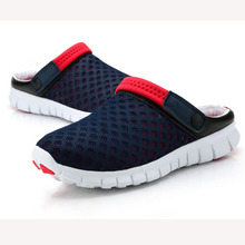 New 2016 Men Slippers Shoes Fashion Breathable Hollow Out Sandals Flip Flops Leather Trend Of The Drag BZ850370(China (Mainland))