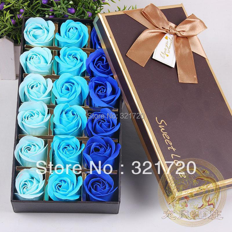( Flor 18 sabão em caixa ) presentes sabão flor rosa sabão para dia dos namorados