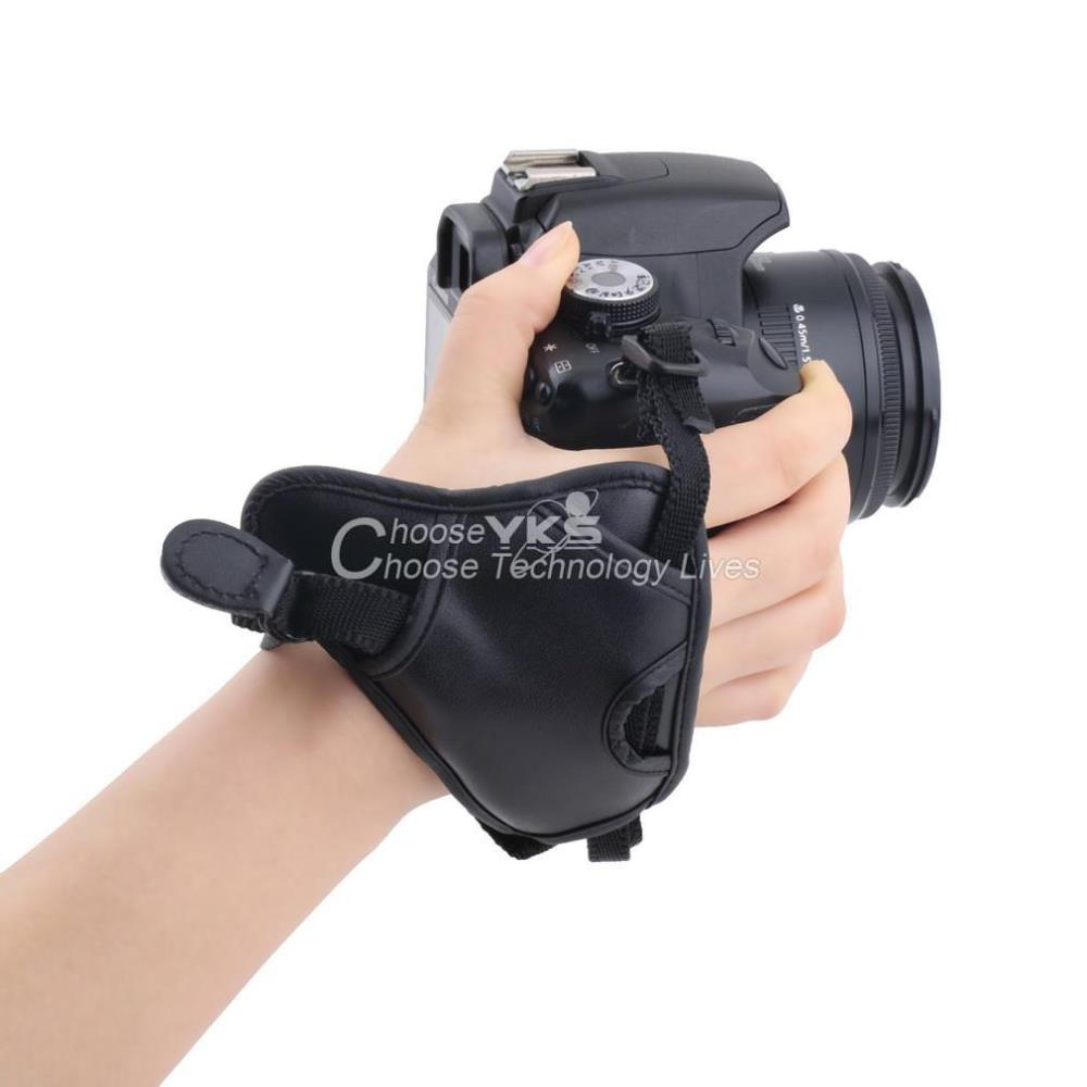 Гаджет  PU Leather Soft Camera Hand Grip Wrist Strap for Canon for Nikon for Sony SLR/DSLR YKS None Бытовая электроника