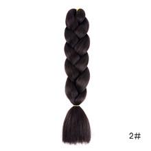 Xpression плетение волос большие синтетические косы Омбре косы волосы розовый фиолетовый Экспрессия Радуга плетение волос(China)