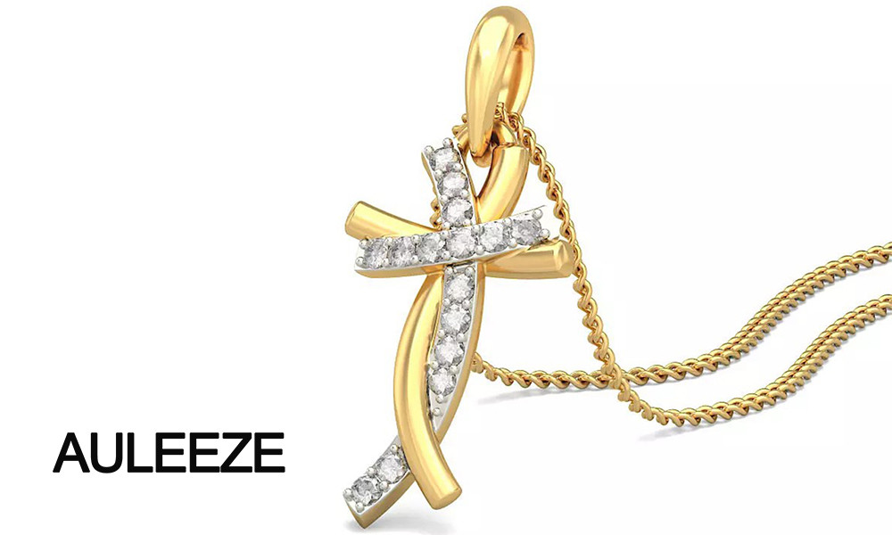 HTB1YlfdLpXXXXa6XFXXq6xXFXXXs - Classic Style Humanoid Cross Pendants 14K Yellow Gold Natural Real Diamond Jewelry Necklace Pendants Engagement Wedding Jewelry