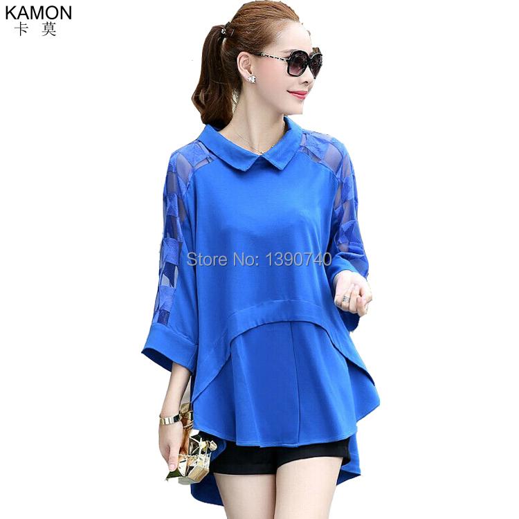 Женские блузки и Рубашки KAMON 2015 Blusas Femininas 5891 женские блузки и рубашки summer blouse blusas femininas 2015 roupas s
