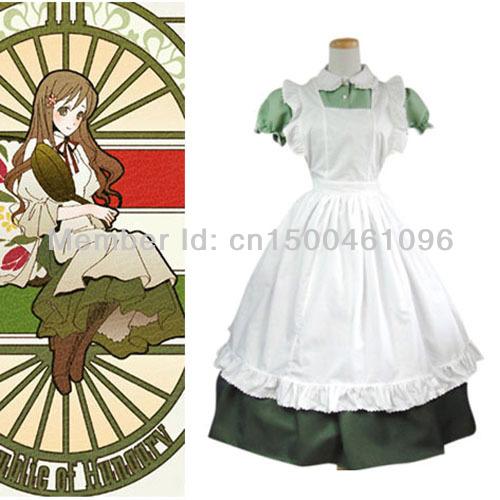 Hetalia: Axis Powers Little Italy Maid Cosplay Costume