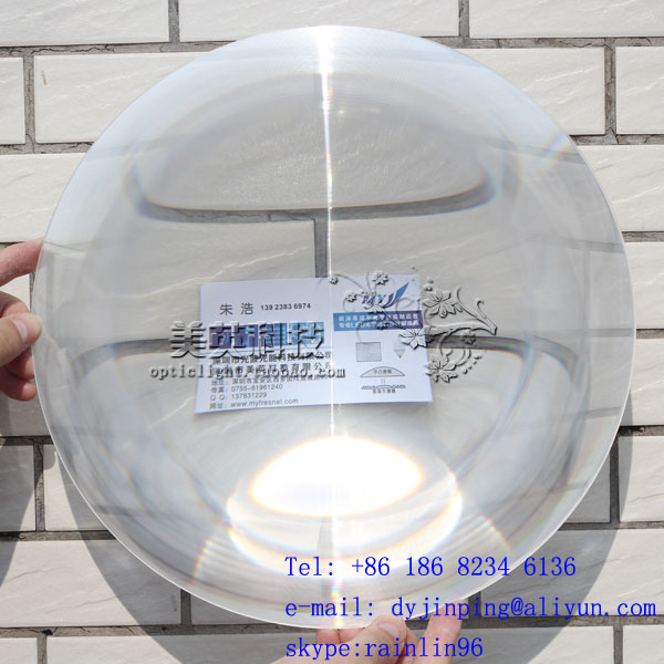 Fresnel lens:Diameter 250 F230mm ,LED traffic light fresnel lens(China (Mainland))