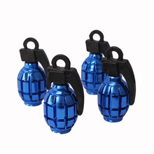 4pcs/lot Universal Metal Grenade Design Car Motorcycle Bike Tire tyre valve dust caps(China (Mainland))