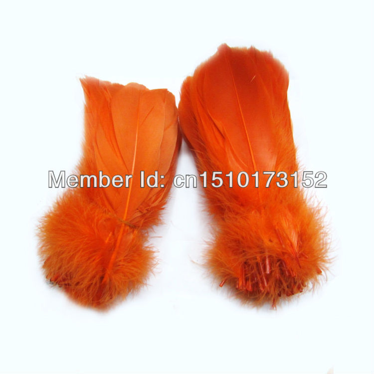 20lot Orange Bluk Soft Rod Goose plume feathers 5-7''/13-18cm sale RP-5 - TiTi Feather Market store