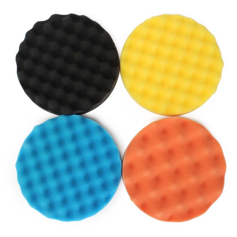 4pcs sponge Polishing waxing Buffing Pads for Power Polishers for coat paints Hot Sale(China (Mainland))