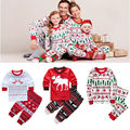 Family Clothes Kids Toddler Baby Pajamas Set Girl Boy Christmas Nightwear Sleepwear 1 7T