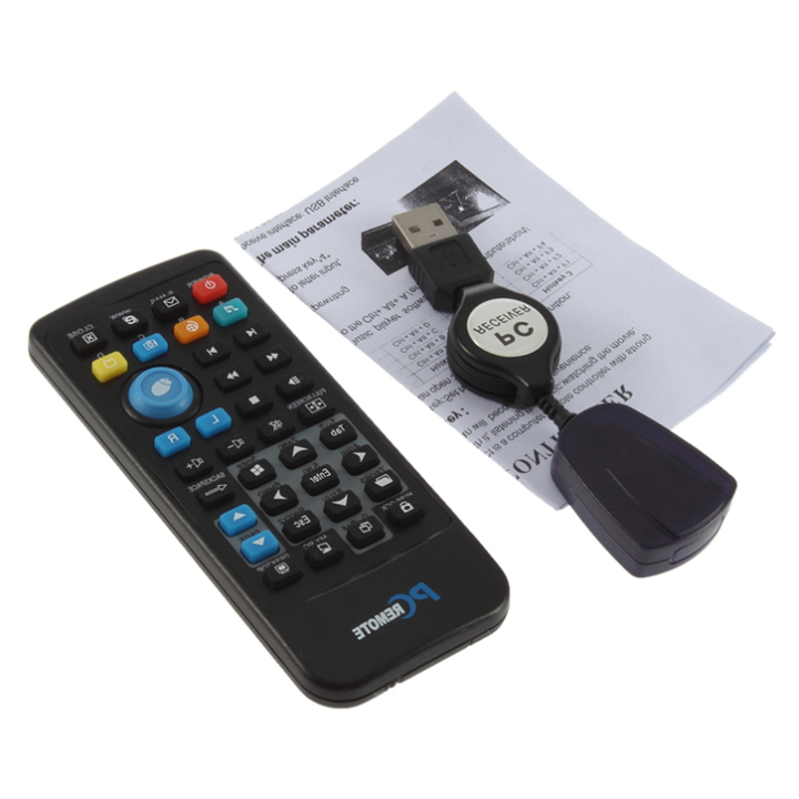 5pcs PC Wireless USB Remote Control Media Center Controller 100% Brand C1Hot New Arrival(China (Mainland))