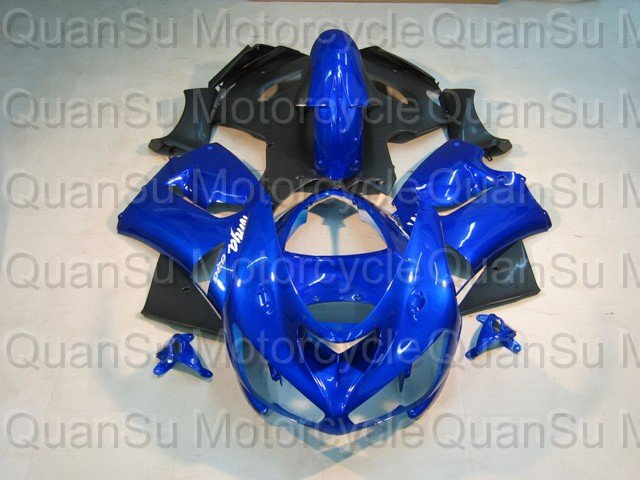 Free Shipping Motorcycle Bodywork Fairing Kawasaki ZX6r 2005-2006  878 blue black