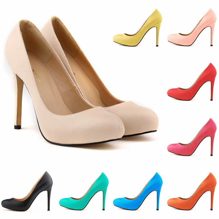 2015 Brand New Women Pumps Shoes Vintage Sexy Red Bottom Pointed ...