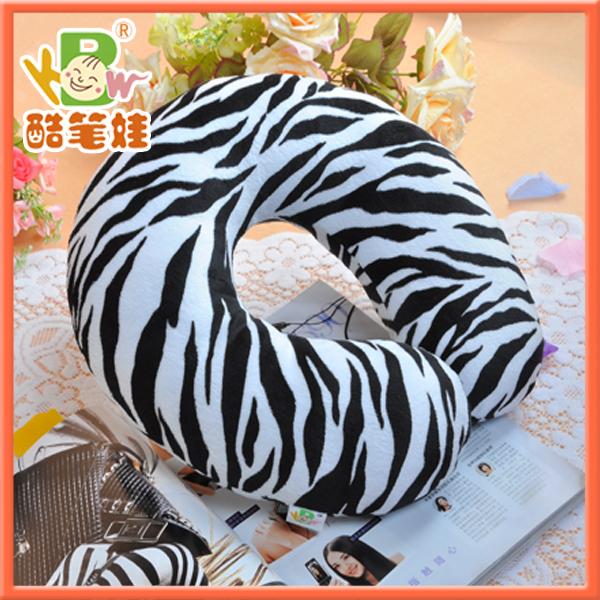 Zebra striped U shape pillow car travel pillow headrest pillow cushion