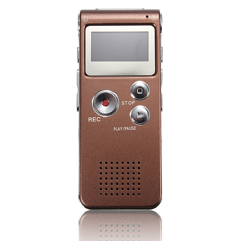 NEW ELEGIANT Rechargeable 8GB Portable Digital Voice Recorder Audio Dictaphone MP3 Player Telephone Recorder Screen For Meeting(China (Mainland))