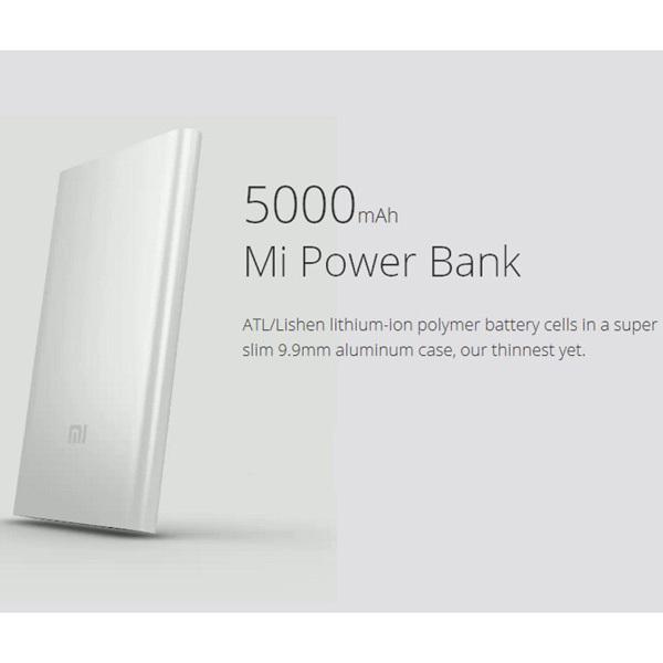 Гаджет  hot!!!  original xiaomi power bank 5000mAh power bank 5000 Ultra Slim Thin 9.9mm usb output for phones pad power bank None Телефоны и Телекоммуникации