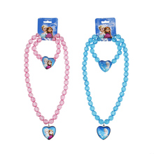 2016 new Girls jewelry necklace Children beads accessories  Elsa pendant necklace(China (Mainland))