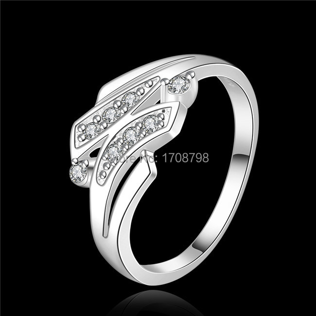 R442 925 sterling silver rings women jewelry Zircon glamorous new TOP quality wholesale anniversary gift(China (Mainland))