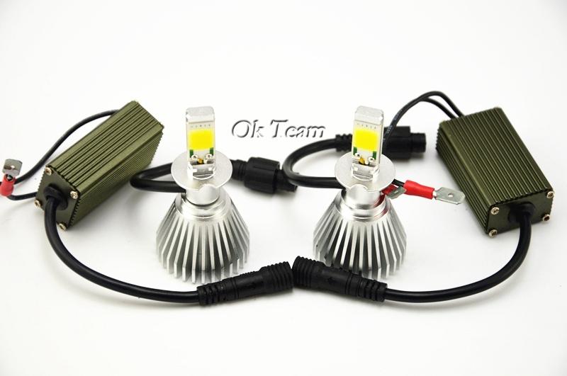 2pcs Headlight Conversion Kit 40w 6000K H3 12V/24V Head light Car Xenon White Headlight Lamp High Low Kit Globes Bulbs LED
