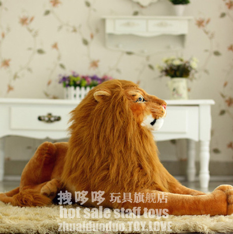 17.7inches 1pc new stuffed toys artificial lion plush king living animal doll gift - Truman Hua's store