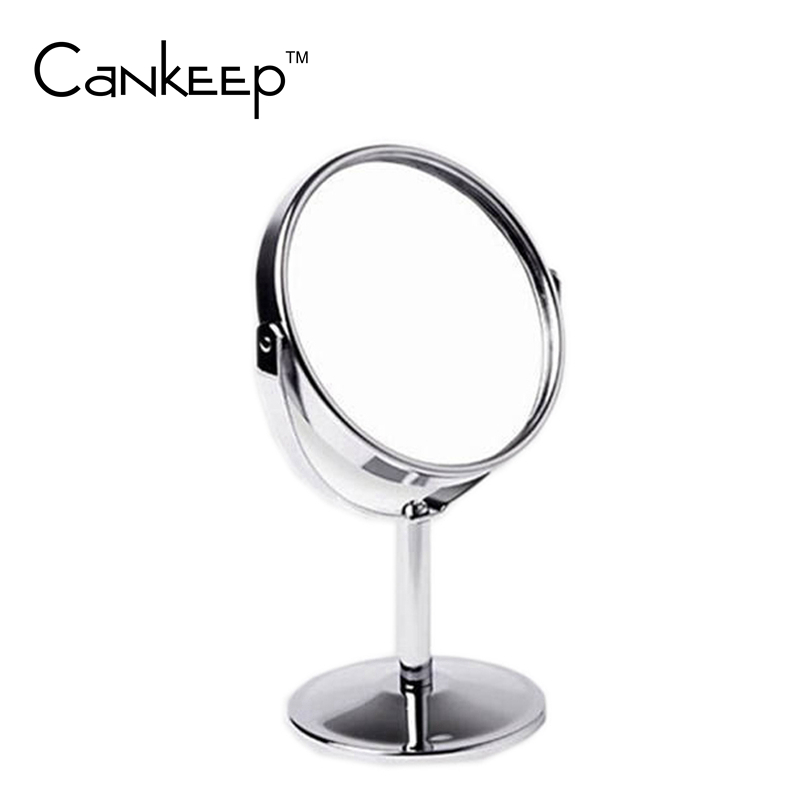 Double Sided Makeup Vanity Table Make Up Mirror Standing Metal Compact Mirror