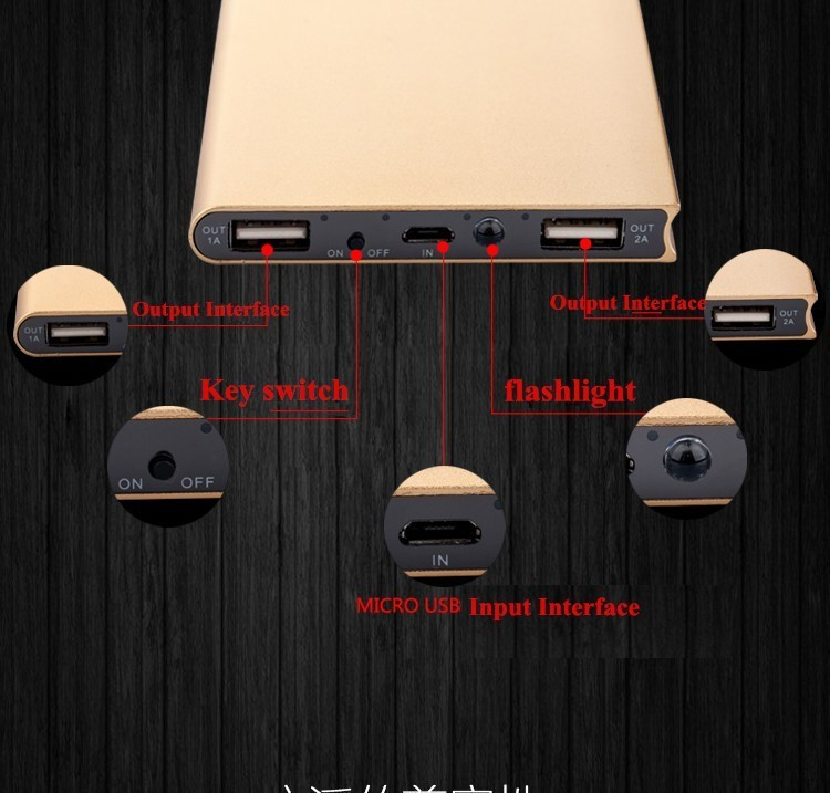 Original FOOBI 20000mAh Power Bank Ultra Slim Dual External Battery Portable Charger for iPhone/Samsung & More 5 Colors