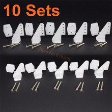 10Sets Plastic Pin Horns 4 hole With Screws L17.5xW13xH26 RC Airplane Parts Electric Planes Foam Aeromodelling Replacement(China (Mainland))