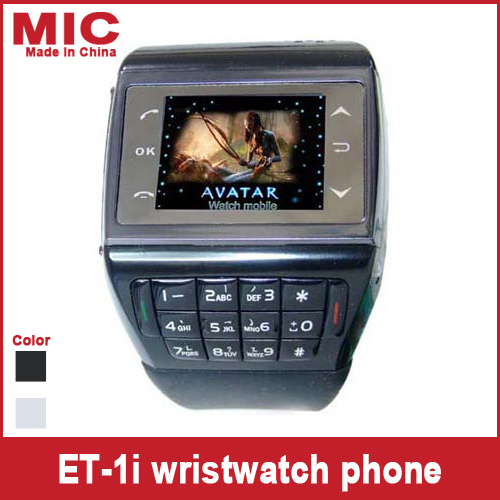 "2013 1.4"" touch screen Keyboard MP3/MP4 FM bluetooth 1.3 million-pixel camera watch mobile phone cellphone Avatar ET-1i P118(China (Mainland))"