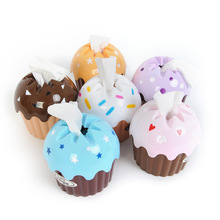 New Lovely Adorable HOT Ice Cream Cupcake Tissue Box Towel Holder Paper Container Dispenser Cover Home Decor(China (Mainland))