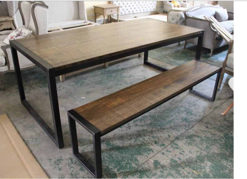 Popular dining room benches buy cheap dining room benches for Table exterieur acier