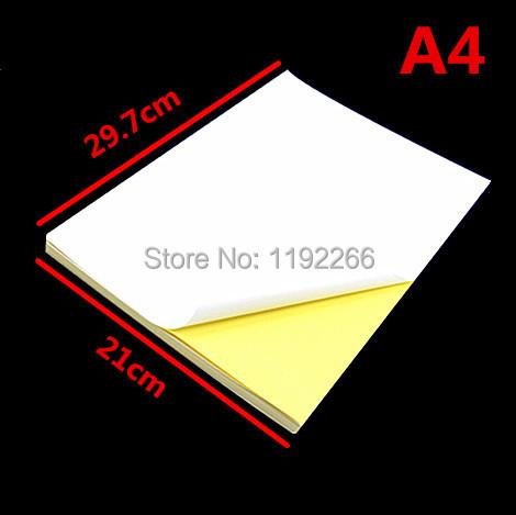 10pc A4 Matte Kraft Printable Self Adhesive Label Sticker Printer Paper