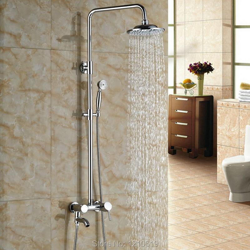 Newly Bath Shower Faucet Set Chrome Finished 8