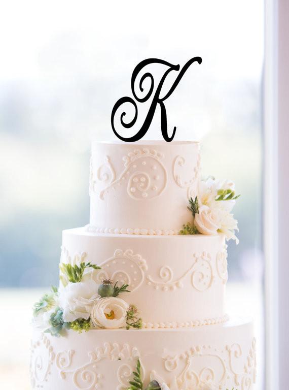 Buy letter k acrylic wedding cake for Letter k decoration