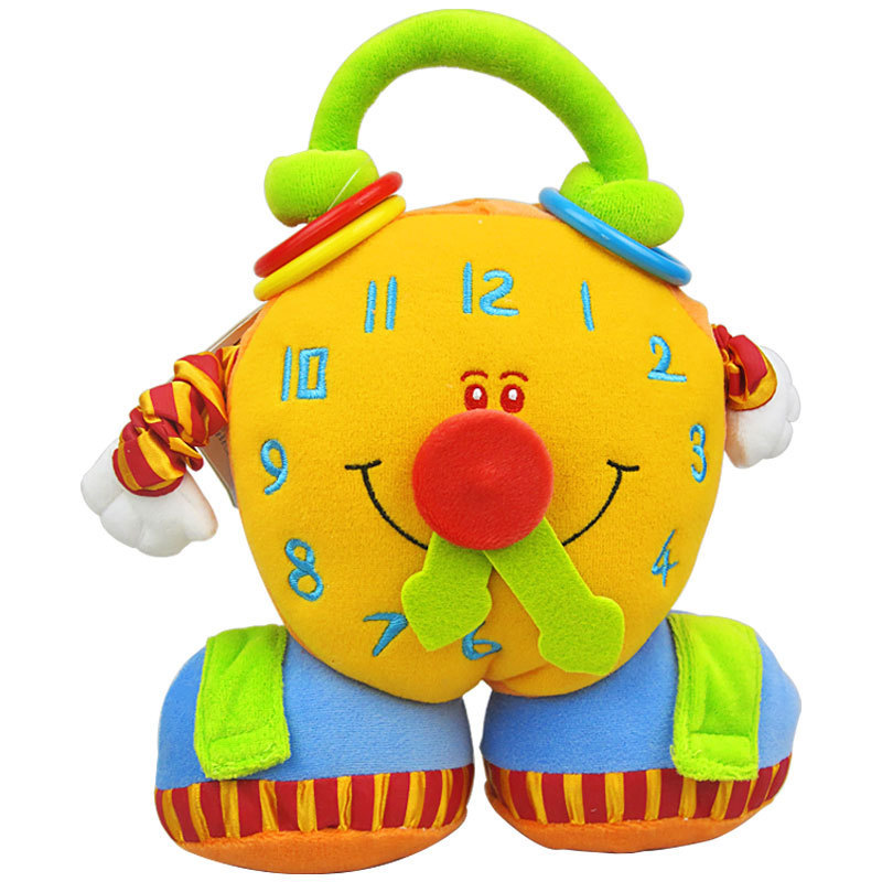 Puzzle Alarm Clock plush doll large early childhood learning enlightenment 0-1 years baby / baby toys-w258(China (Mainland))