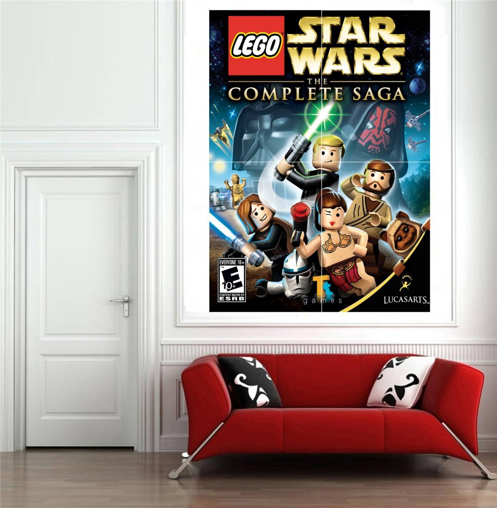 large size lego star wars wall sticker for kids room wall. Black Bedroom Furniture Sets. Home Design Ideas