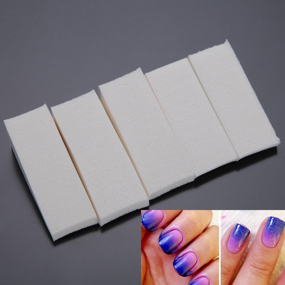 5Pcs/Packet Gradient Nail Soft Sponges Color Fade Manicure DIY Art Tool Accessories Change - Miss Queen 2015 store