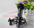 Condenser Microphone Mic EAROBE FZ 002 Sound Singing Studio Recording metal microphone Shock Mount clip holder