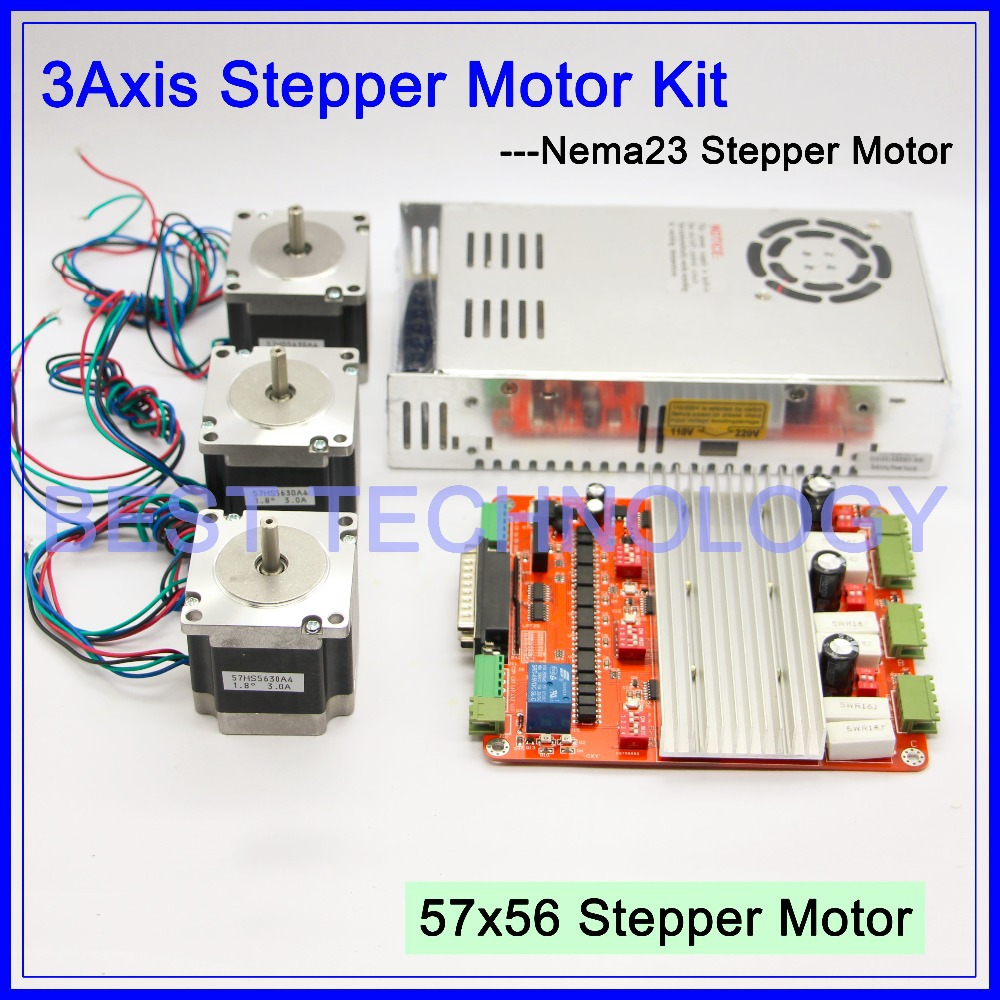 Buy 3axis Cnc Controller Kit 3pcs Nema23