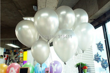 1.3g 100pcs/lot Metallic Latex Helium Inflatable Thickening Pearl Silver Balloons Wedding Decorations ballon  Gray Ball