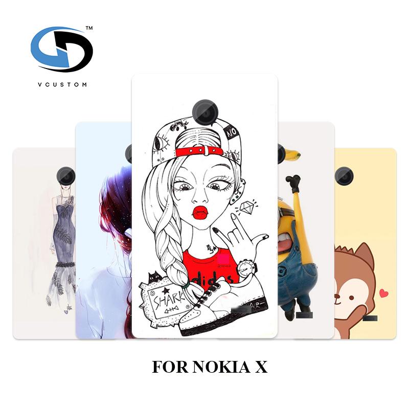 2016 New 1pcs Phone Case Hot Peng Lovely Monkey Cat Hybrid White Hard Cases For Nokia X Free Shipping(China (Mainland))