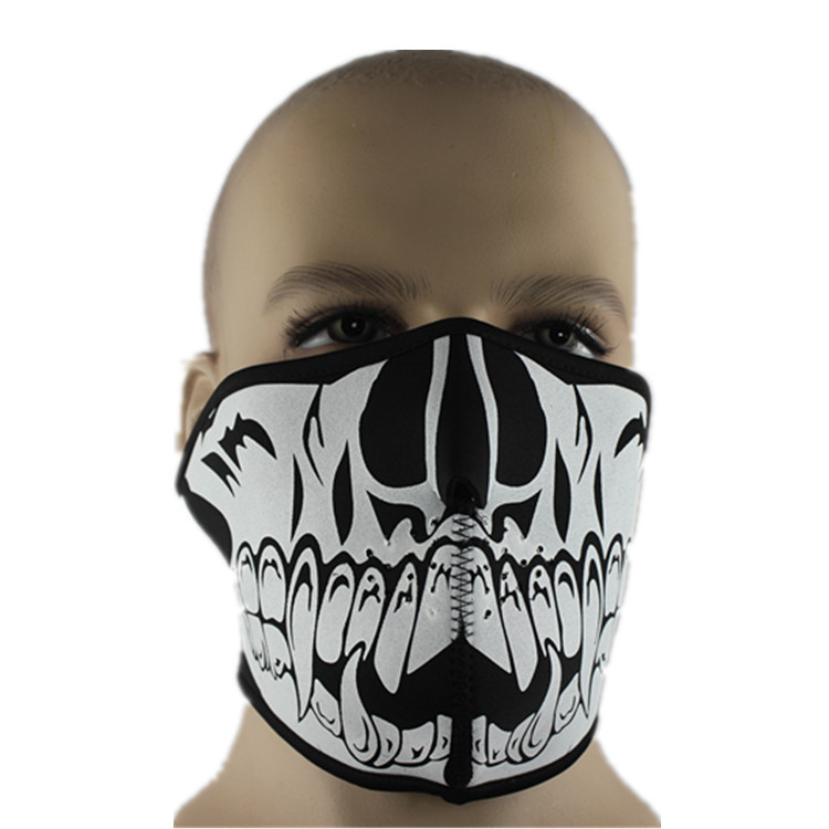 1pc Adult Skeleton Mask Profession CS Mask Cycling Motorcycle Paintball Ski Half Face Mask Winter Face Mask Multi Function Hats(China (Mainland))