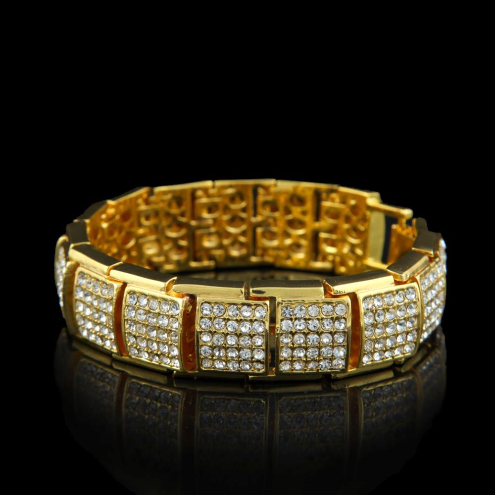 buy hip hop silver tone bling bling mens bracelet covered heavy bracelets. Black Bedroom Furniture Sets. Home Design Ideas