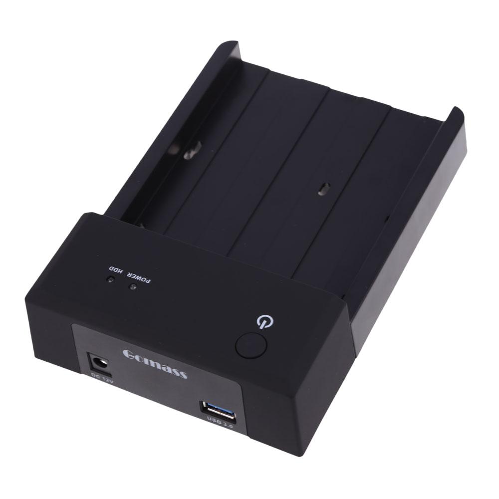 2.5 3.5 Inch SATA HDD Docking Station Enclosure USB 3.0 Interface Black