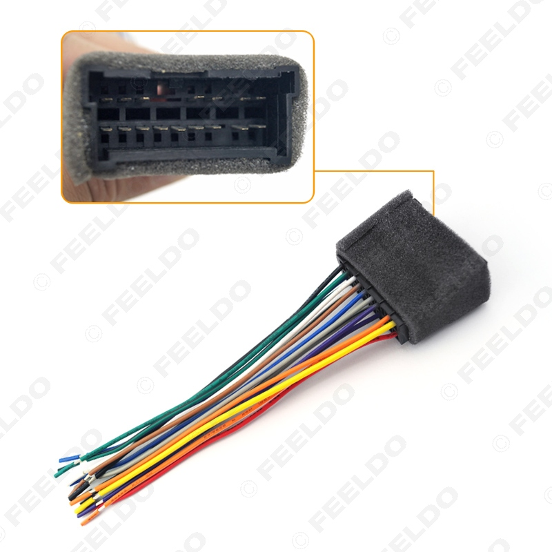 aliexpress buy car oem audio stereo wiring harness adapter for hyundai kia 01 05 install