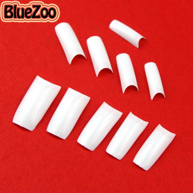 BlueZoo 500pcs Full Cover False Nail Tips Art White Black French Acrylic False French Nail Tips For Diy Nail Art Decoration